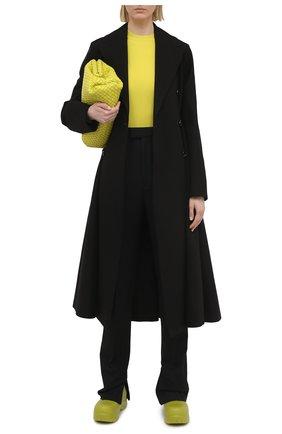 Женский хлопковый тренч BOTTEGA VENETA черного цвета, арт. 646931/V0010 | Фото 2