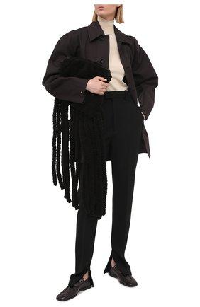 Женский хлопковый тренч BOTTEGA VENETA темно-коричневого цвета, арт. 646308/V00V0 | Фото 2