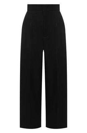 Женские шерстяные брюки BOTTEGA VENETA черного цвета, арт. 651012/VKIS0 | Фото 1