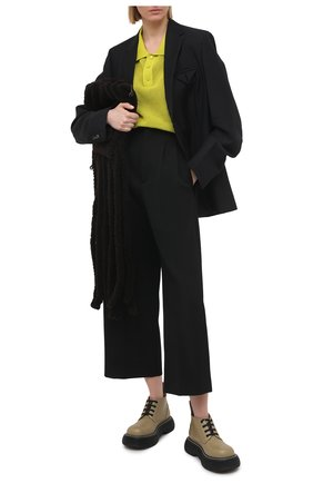 Женские шерстяные брюки BOTTEGA VENETA черного цвета, арт. 651012/VKIS0 | Фото 2