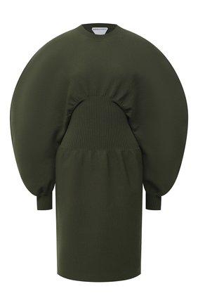 Женское платье BOTTEGA VENETA зеленого цвета, арт. 650768/V0CX0 | Фото 1