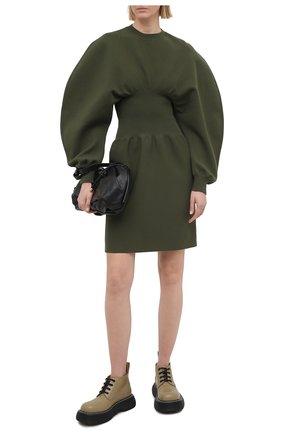 Женское платье BOTTEGA VENETA зеленого цвета, арт. 650768/V0CX0 | Фото 2