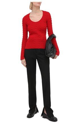 Женский хлопковый пуловер BOTTEGA VENETA красного цвета, арт. 647743/V0DW0 | Фото 2