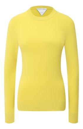 Женский пуловер из вискозы BOTTEGA VENETA желтого цвета, арт. 647547/VKJK0   Фото 1