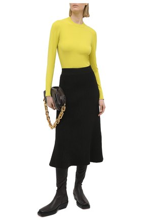 Женский пуловер из вискозы BOTTEGA VENETA желтого цвета, арт. 647547/VKJK0   Фото 2