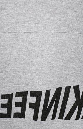 Детский хлопковое худи MAKODAY серого цвета, арт. MA20H003/CoLy04   Фото 3