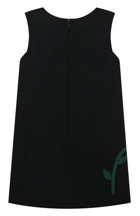 Детское платье DOLCE & GABBANA черного цвета, арт. L59D79/G7XUM/2-6 | Фото 2 (Материал подклада: Вискоза; Материал внешний: Вискоза; Рукава: Короткие; Случай: Вечерний; Девочки Кросс-КТ: Платье-одежда; Ростовка одежда: 2 года | 92 см, 3 года | 98 см, 4 года | 104 см, 5 лет | 110 см, 6 лет | 116 см)