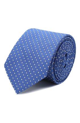 Детский шелковый галстук с узором DAL LAGO синего цвета, арт. N300/7328/II | Фото 1
