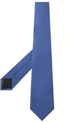 Детский шелковый галстук с узором DAL LAGO синего цвета, арт. N300/7328/II | Фото 2