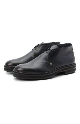 Мужские кожаные ботинки ZILLI синего цвета, арт. MDU-A095/002 | Фото 1