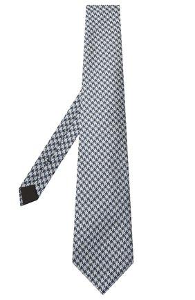Мужской шелковый галстук TOM FORD голубого цвета, арт. 9TF46/XTF | Фото 2
