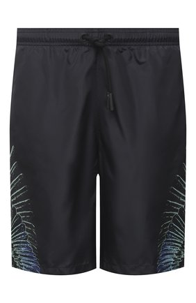 Мужские шорты MARCELO BURLON черного цвета, арт. CMFA007R21FAB001 | Фото 1