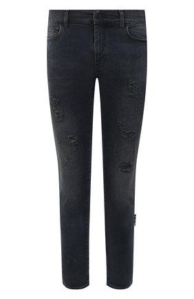 Мужские джинсы OFF-WHITE темно-серого цвета, арт. 0MYA074R21DEN003 | Фото 1