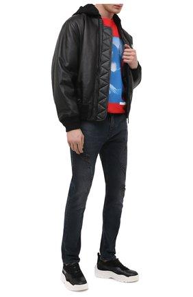 Мужские джинсы OFF-WHITE темно-серого цвета, арт. 0MYA074R21DEN003 | Фото 2