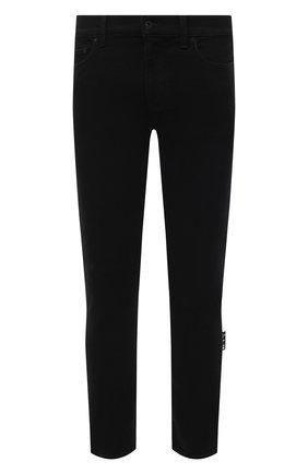 Мужские джинсы OFF-WHITE черного цвета, арт. 0MYA074R21DEN001 | Фото 1