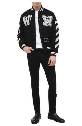 Мужские джинсы OFF-WHITE черного цвета, арт. 0MYA074R21DEN001 | Фото 2
