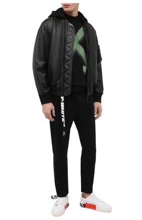 Мужские джинсы OFF-WHITE черного цвета, арт. 0MYA005R21DEN001 | Фото 2