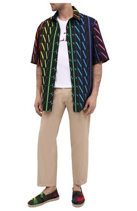 Мужские текстильные эспадрильи VALENTINO разноцветного цвета, арт. VY2S0B73/MUM | Фото 2 (Материал внутренний: Натуральная кожа, Текстиль; Материал внешний: Текстиль)