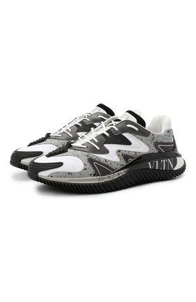 Мужские кроссовки wade runner VALENTINO серого цвета, арт. VY2S0D95/NVD | Фото 1 (Подошва: Массивная; Стили: Гранж; Материал внутренний: Текстиль; Материал внешний: Текстиль)