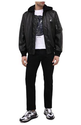 Мужские кроссовки wade runner VALENTINO серого цвета, арт. VY2S0D95/NVD | Фото 2 (Подошва: Массивная; Стили: Гранж; Материал внутренний: Текстиль; Материал внешний: Текстиль)