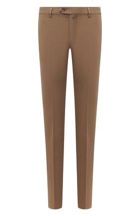 Мужские хлопковые брюки LORO PIANA светло-коричневого цвета, арт. FAE8346 | Фото 1 (Случай: Повседневный; Длина (брюки, джинсы): Стандартные; Материал внешний: Хлопок; Стили: Кэжуэл; Силуэт М (брюки): Чиносы)