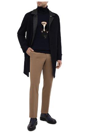 Мужские хлопковые брюки LORO PIANA светло-коричневого цвета, арт. FAE8346 | Фото 2 (Случай: Повседневный; Длина (брюки, джинсы): Стандартные; Материал внешний: Хлопок; Стили: Кэжуэл; Силуэт М (брюки): Чиносы)