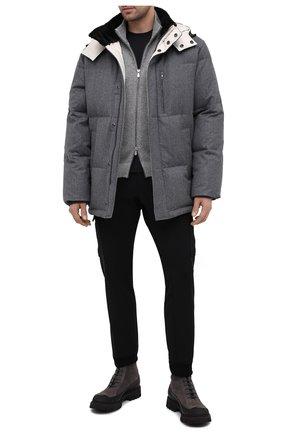 Мужские замшевые ботинки KITON темно-серого цвета, арт. USSHIKEN00689 | Фото 2 (Материал внутренний: Текстиль, Натуральная кожа; Мужское Кросс-КТ: Ботинки-обувь; Подошва: Массивная; Материал внешний: Замша)