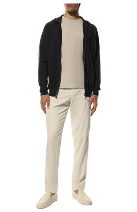 Мужской кардиган из шелка и кашемира LORO PIANA темно-синего цвета, арт. FAF2670 | Фото 2