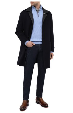 Мужской кашемировый свитер BRIONI голубого цвета, арт. UMS70L/09K37 | Фото 2