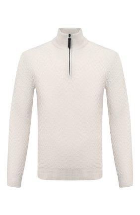 Мужской кашемировый свитер BRIONI кремвого цвета, арт. UMS70L/09K37 | Фото 1