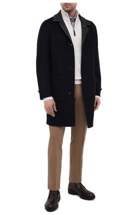 Мужской кашемировый свитер BRIONI кремвого цвета, арт. UMS70L/09K37 | Фото 2