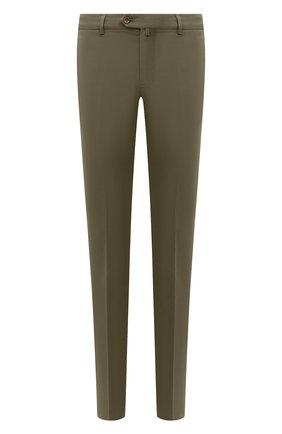 Мужские хлопковые брюки LORO PIANA хаки цвета, арт. FAE8346   Фото 1