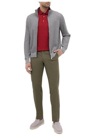Мужские хлопковые брюки LORO PIANA хаки цвета, арт. FAE8346   Фото 2