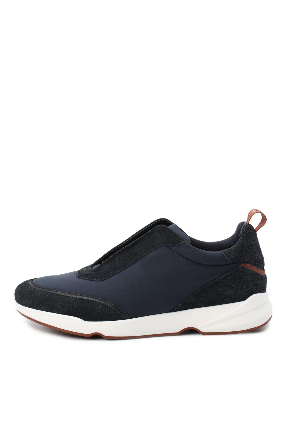 Мужские комбинированные кроссовки modular walk LORO PIANA темно-синего цвета, арт. FAL6187 | Фото 3