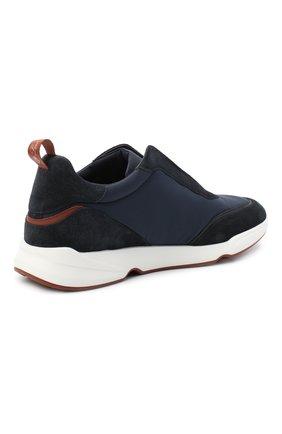Мужские комбинированные кроссовки modular walk LORO PIANA темно-синего цвета, арт. FAL6187 | Фото 4