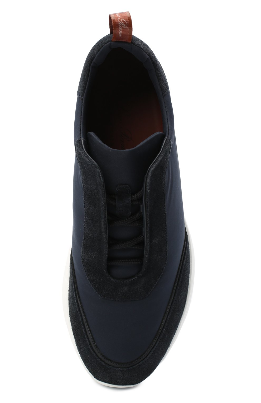 Мужские комбинированные кроссовки modular walk LORO PIANA темно-синего цвета, арт. FAL6187 | Фото 5