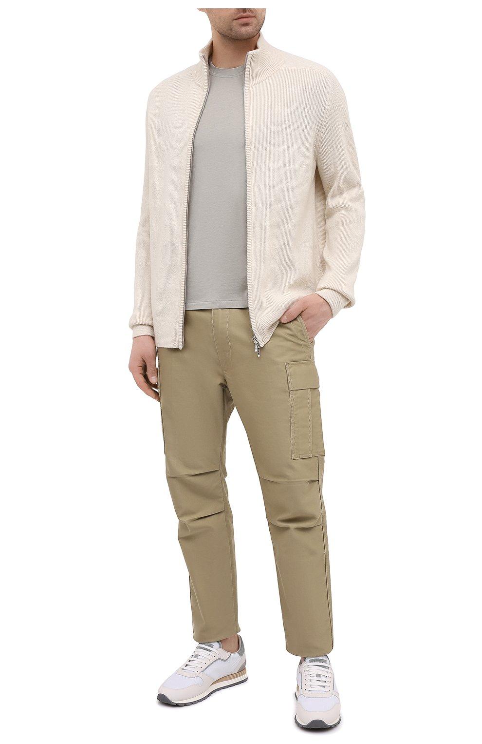 Мужская футболка TOM FORD светло-серого цвета, арт. BW229/TFJ950 | Фото 2 (Принт: Без принта; Рукава: Короткие; Длина (для топов): Стандартные; Материал внешний: Хлопок, Лиоцелл; Стили: Кэжуэл)