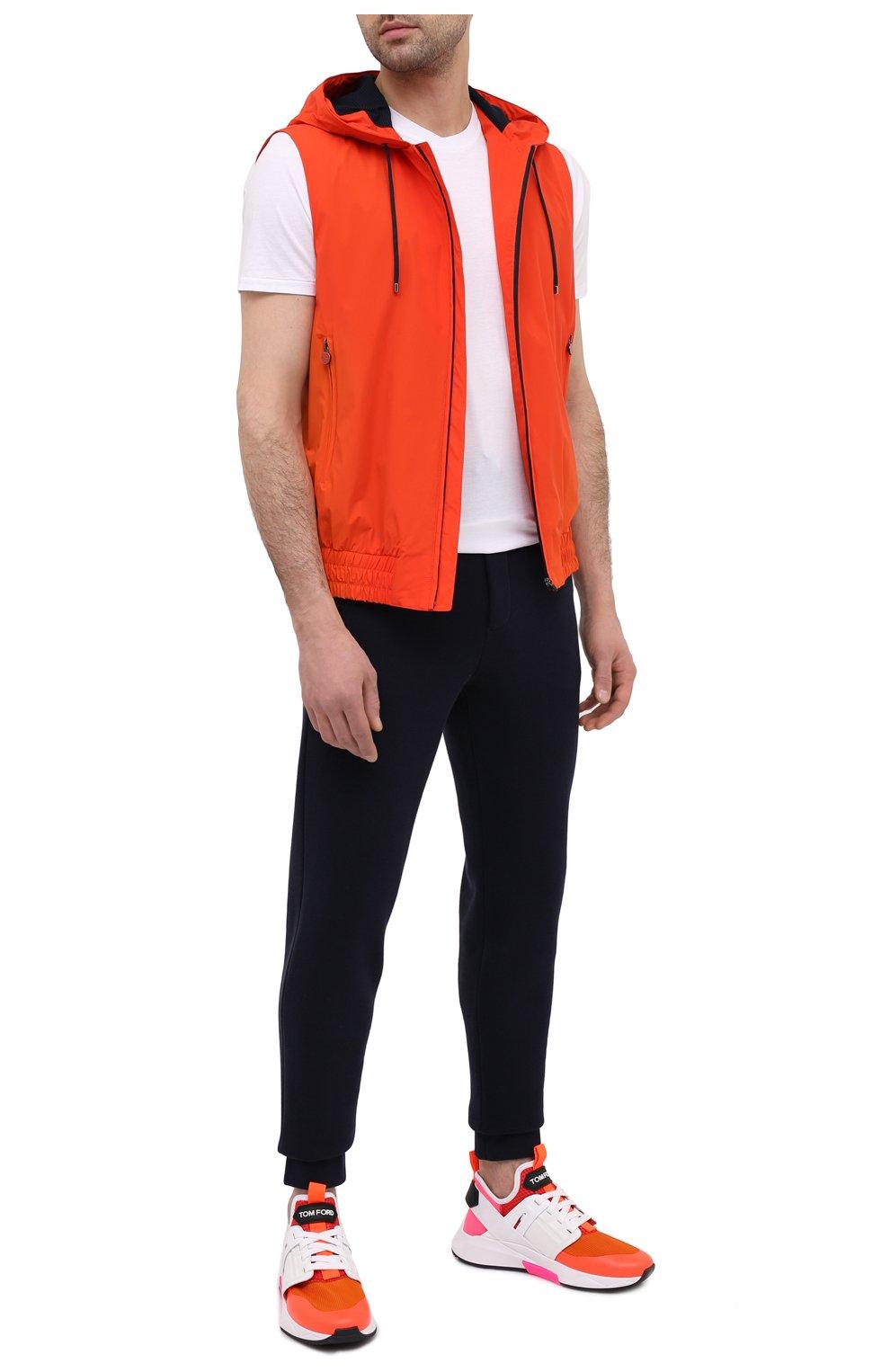 Мужские комбинированные кроссовки TOM FORD оранжевого цвета, арт. J1100T-T0F001 | Фото 2