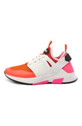 Мужские комбинированные кроссовки TOM FORD оранжевого цвета, арт. J1100T-T0F001 | Фото 3