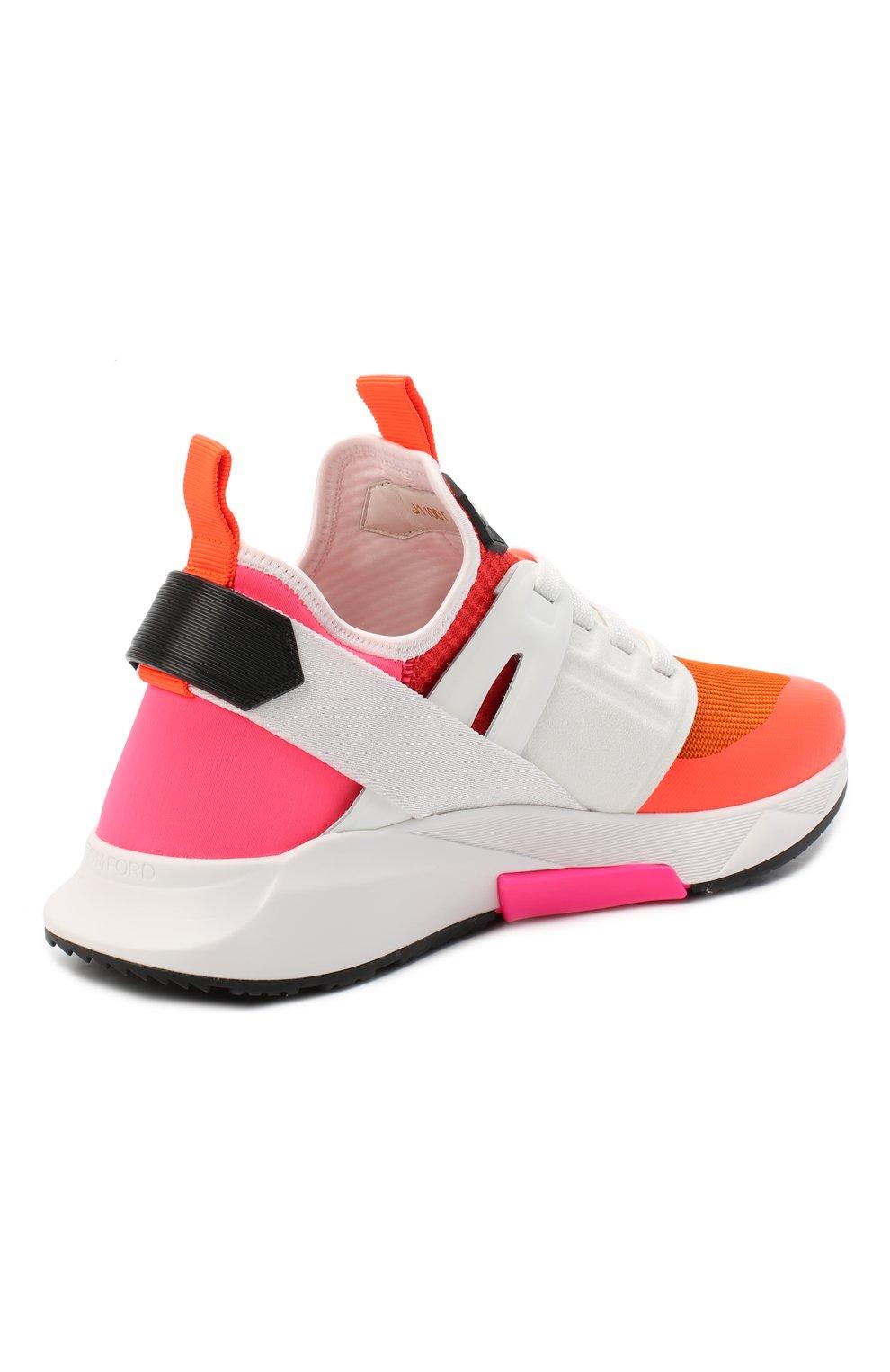 Мужские комбинированные кроссовки TOM FORD оранжевого цвета, арт. J1100T-T0F001 | Фото 4