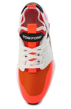 Мужские комбинированные кроссовки TOM FORD оранжевого цвета, арт. J1100T-T0F001 | Фото 5