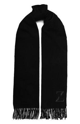 Мужской кашемировый шарф ZILLI черного цвета, арт. MIU-INSIG-40825/0001/CP0R | Фото 1