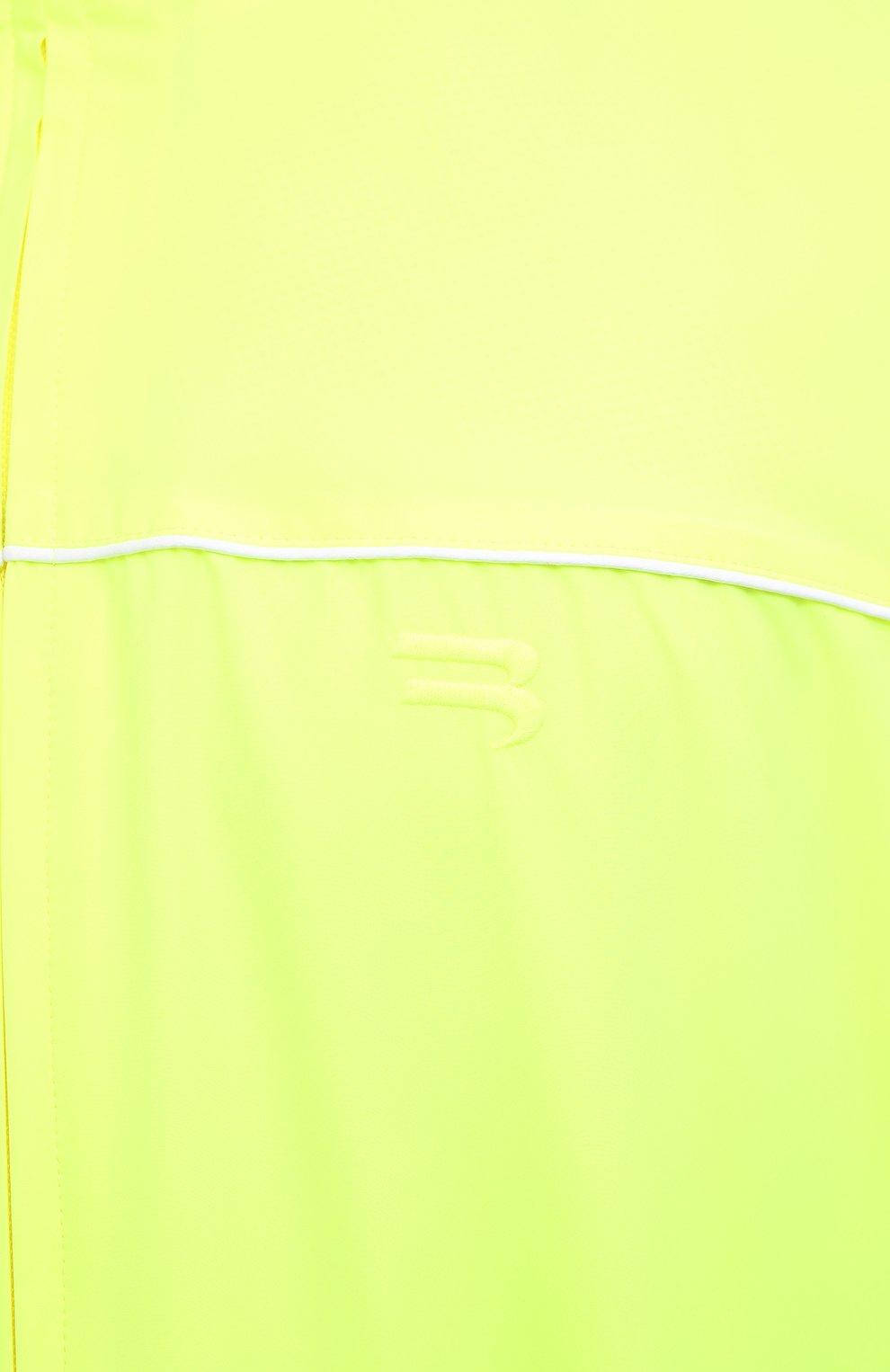 Мужской бомбер BALENCIAGA светло-зеленого цвета, арт. 642337/TJ0C1 | Фото 5 (Кросс-КТ: Куртка; Рукава: Длинные; Принт: Без принта; Длина (верхняя одежда): До середины бедра; Материал внешний: Синтетический материал; Стили: Гранж; Материал подклада: Синтетический материал)