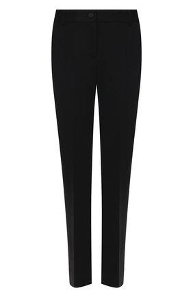 Женские брюки из смеси шерсти и шелка DOLCE & GABBANA черного цвета, арт. FTBNKT/FUCC6 | Фото 1
