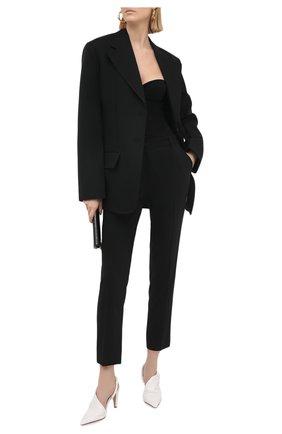 Женские брюки из смеси шерсти и шелка DOLCE & GABBANA черного цвета, арт. FTBNKT/FUCC6 | Фото 2