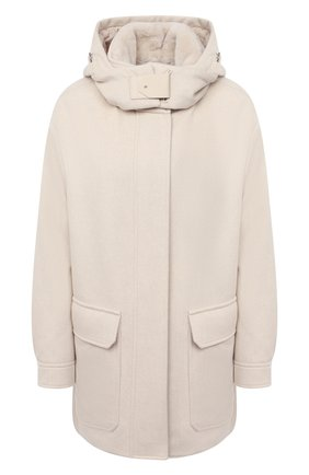 Женская шерстяная куртка LORO PIANA светло-бежевого цвета, арт. FAL3673   Фото 1