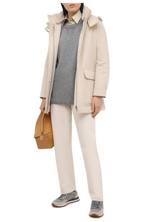 Женская шерстяная куртка LORO PIANA светло-бежевого цвета, арт. FAL3673   Фото 2
