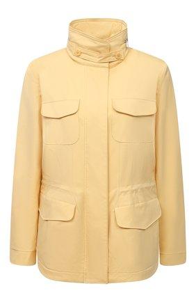 Женская куртка с капюшоном LORO PIANA желтого цвета, арт. FAF8482   Фото 1