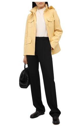 Женская куртка с капюшоном LORO PIANA желтого цвета, арт. FAF8482   Фото 2