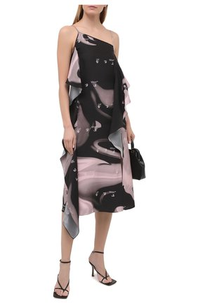 Женское платье из вискозы OFF-WHITE розового цвета, арт. 0WDB302R21FAB002 | Фото 2